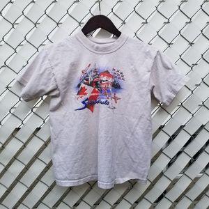 White Canadian Snowbird T shirt short sleeve L